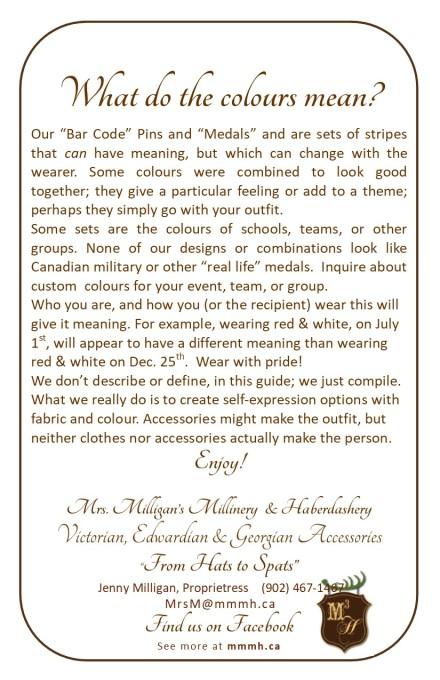Medals Guide Booklet pg 12, back
